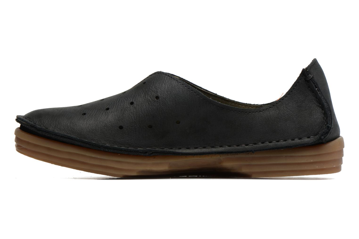 Loafers El Naturalista Ricefield NF88 Black front view