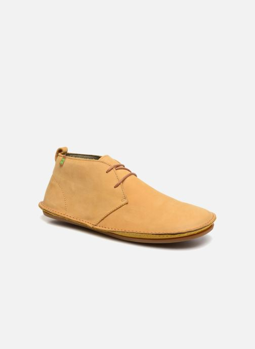 Lace-up shoes El Naturalista Ibiza NF55 Yellow detailed view/ Pair view