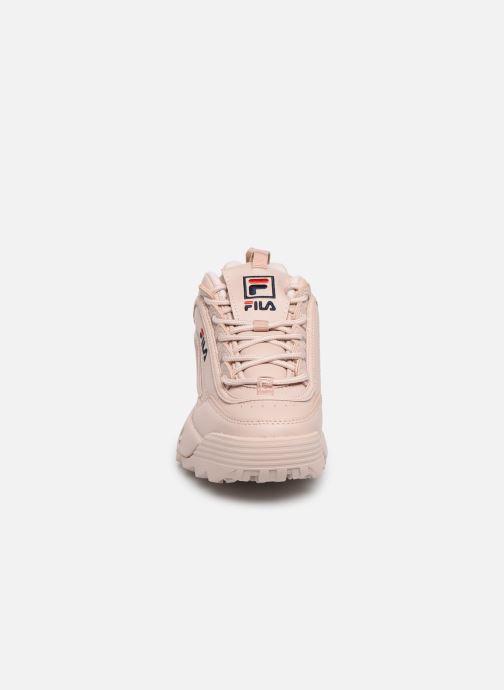 Baskets FILA Disruptor Low W Rose vue portées chaussures