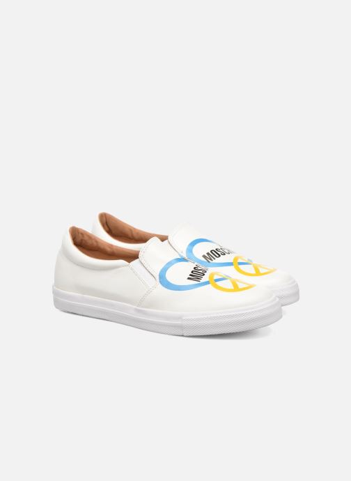 Baskets Love Moschino Cut Out Slip-On Blanc vue 3/4