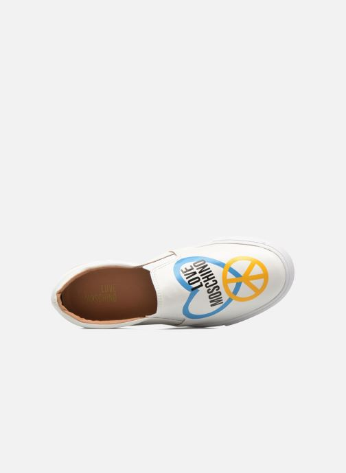 Baskets Love Moschino Cut Out Slip-On Blanc vue gauche
