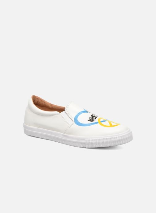 Baskets Love Moschino Cut Out Slip-On Blanc vue détail/paire