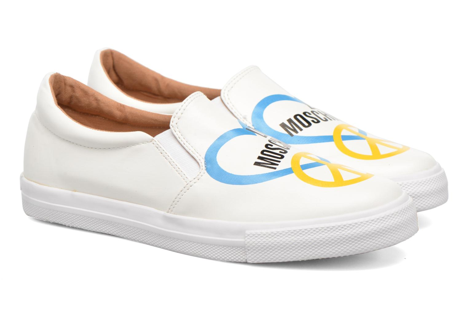 Trainers Love Moschino Cut Out Slip-On White 3/4 view