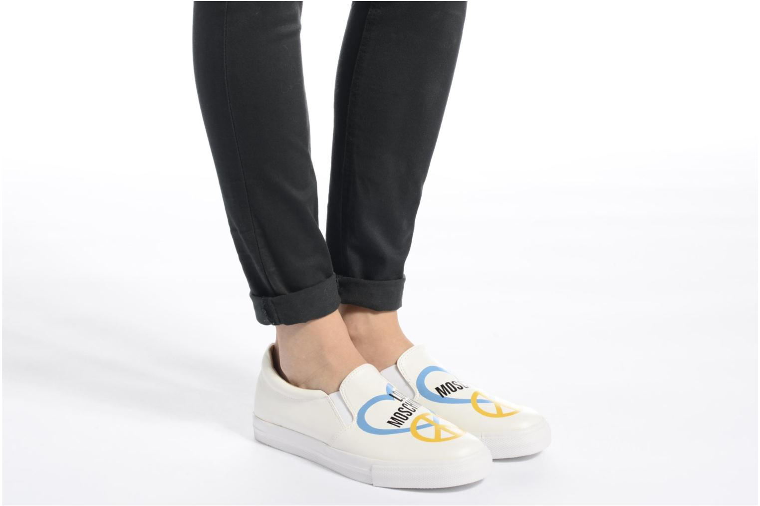 Trainers Love Moschino Cut Out Slip-On White view from underneath / model view