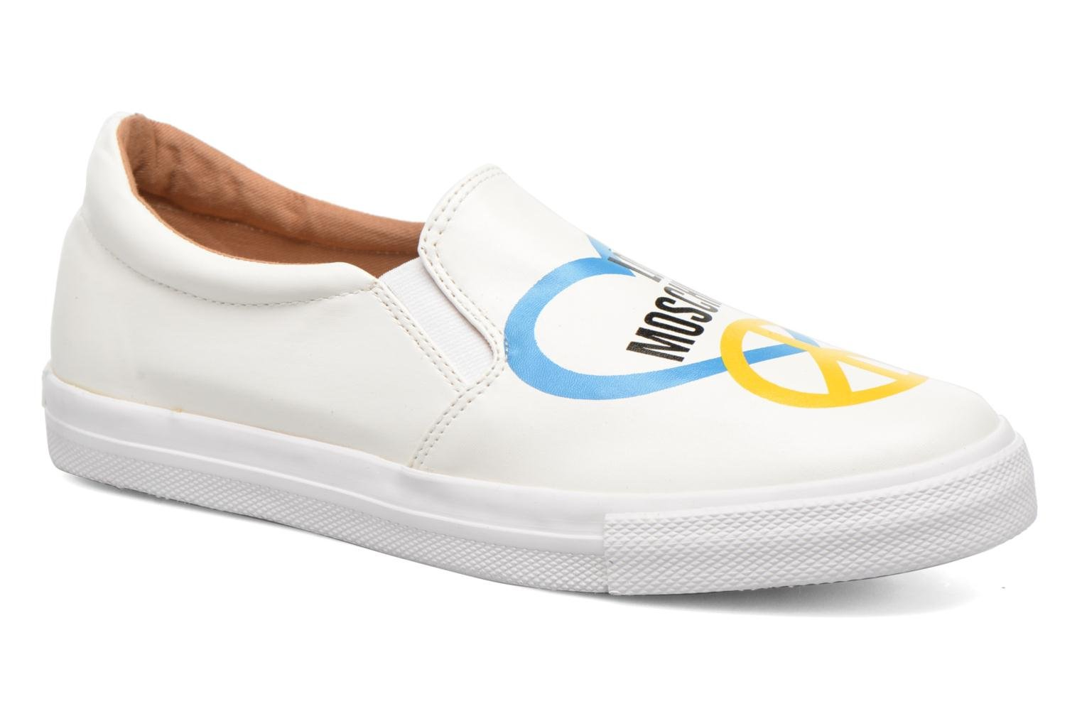 Trainers Love Moschino Cut Out Slip-On White detailed view/ Pair view