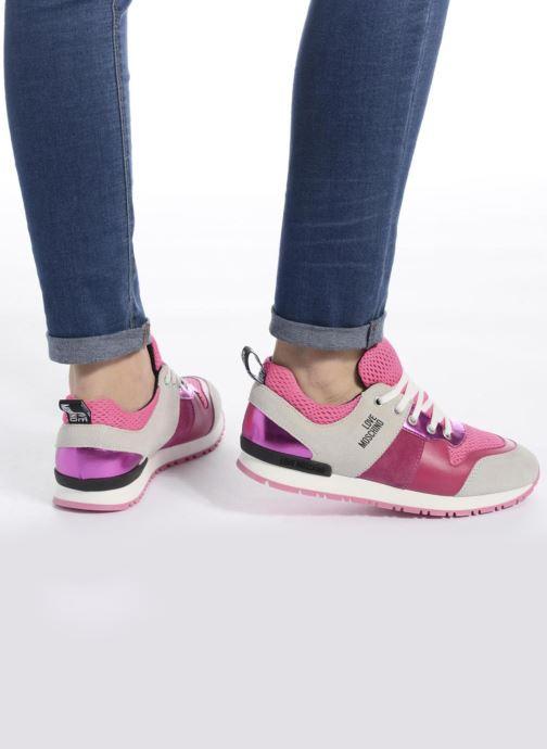 Deportivas Love Moschino Sneaker Mania2 Rosa vista de abajo