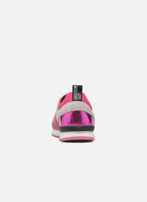 Baskets Love Moschino Sneaker Mania2 Rose vue droite