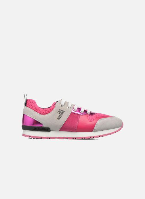 Deportivas Love Moschino Sneaker Mania2 Rosa vistra trasera