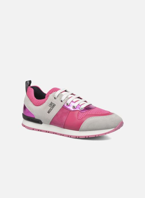 Baskets Love Moschino Sneaker Mania2 Rose vue détail/paire