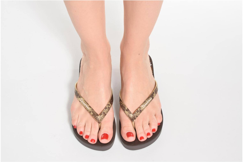 Flip flops Ipanema Art Deco III Black view from underneath / model view