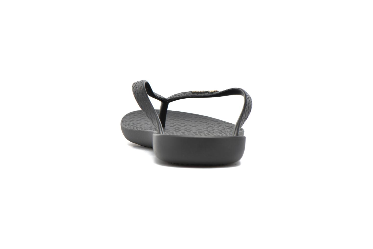 Flip flops Ipanema Wave Black view from the right