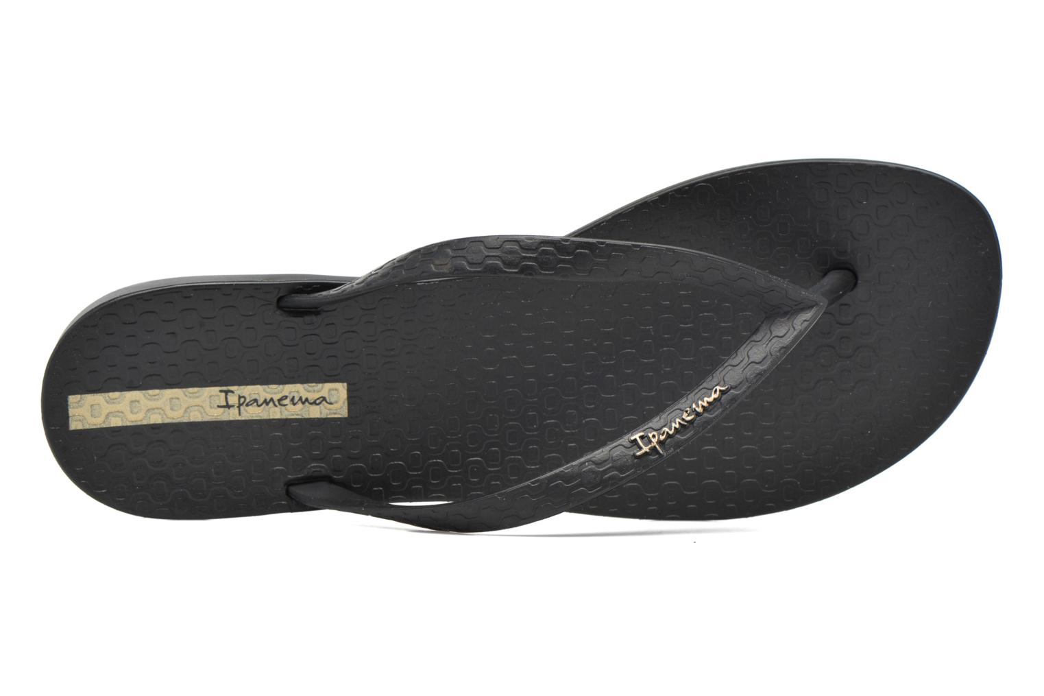 Flip flops Ipanema Wave Black view from the left