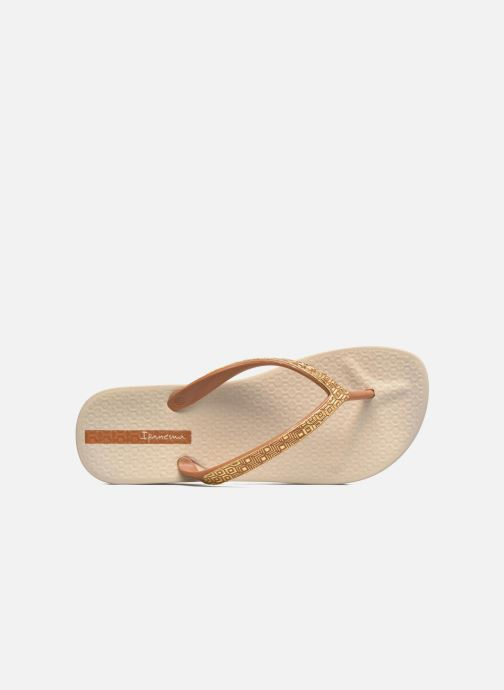 Flip flops Ipanema Mesh Plat II Beige view from the left