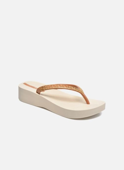 Flip flops Ipanema Mesh Plat II Beige detailed view/ Pair view