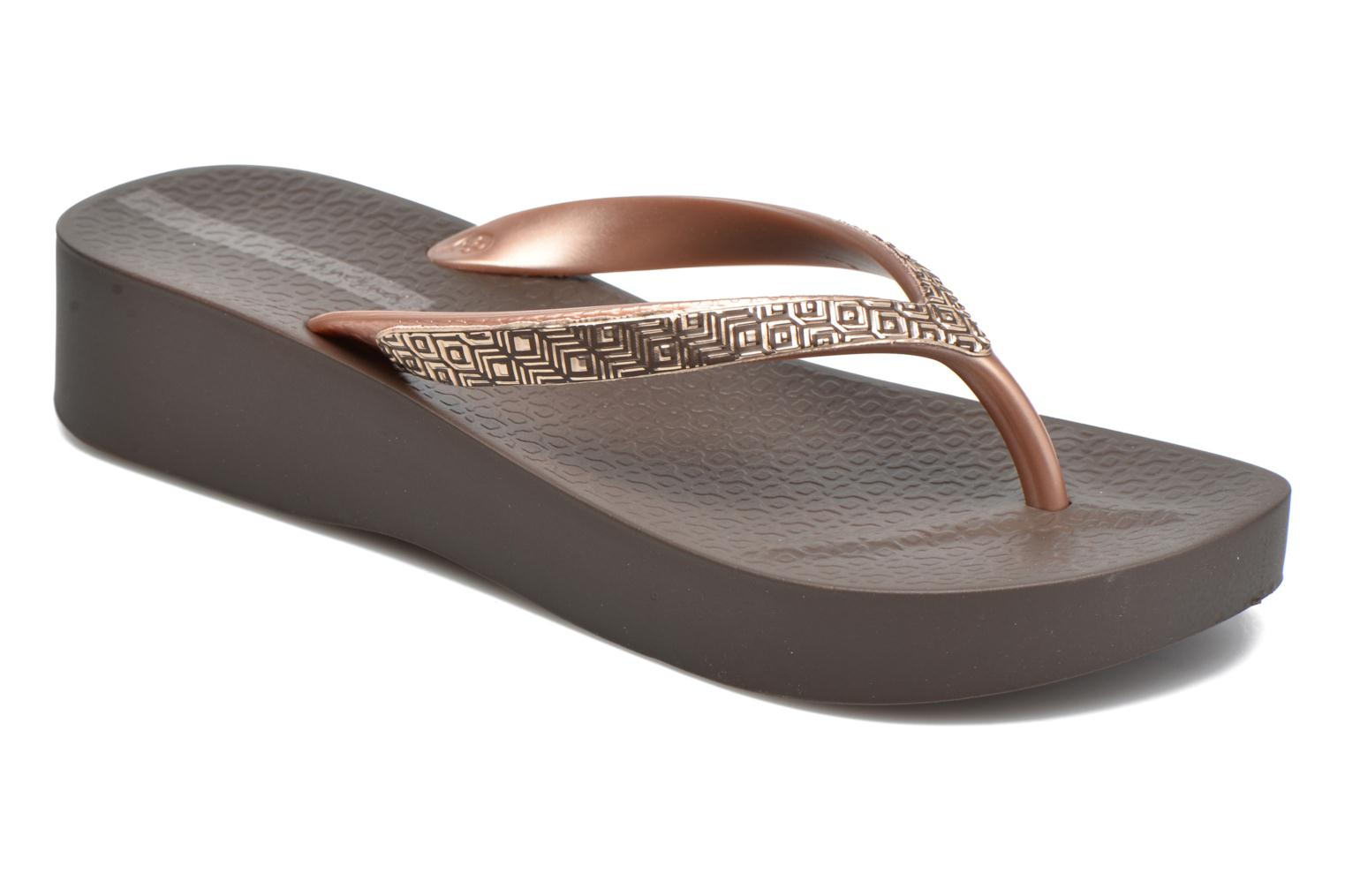 Flip flops Ipanema Mesh Plat II Brown detailed view/ Pair view