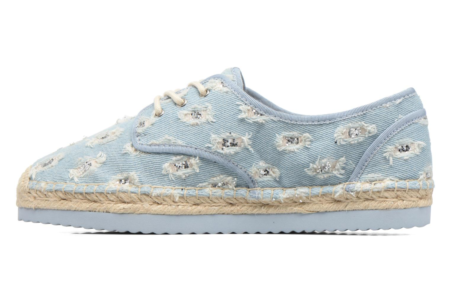 Espadrilles Michael Michael Kors Hastings Lace Up Blauw voorkant