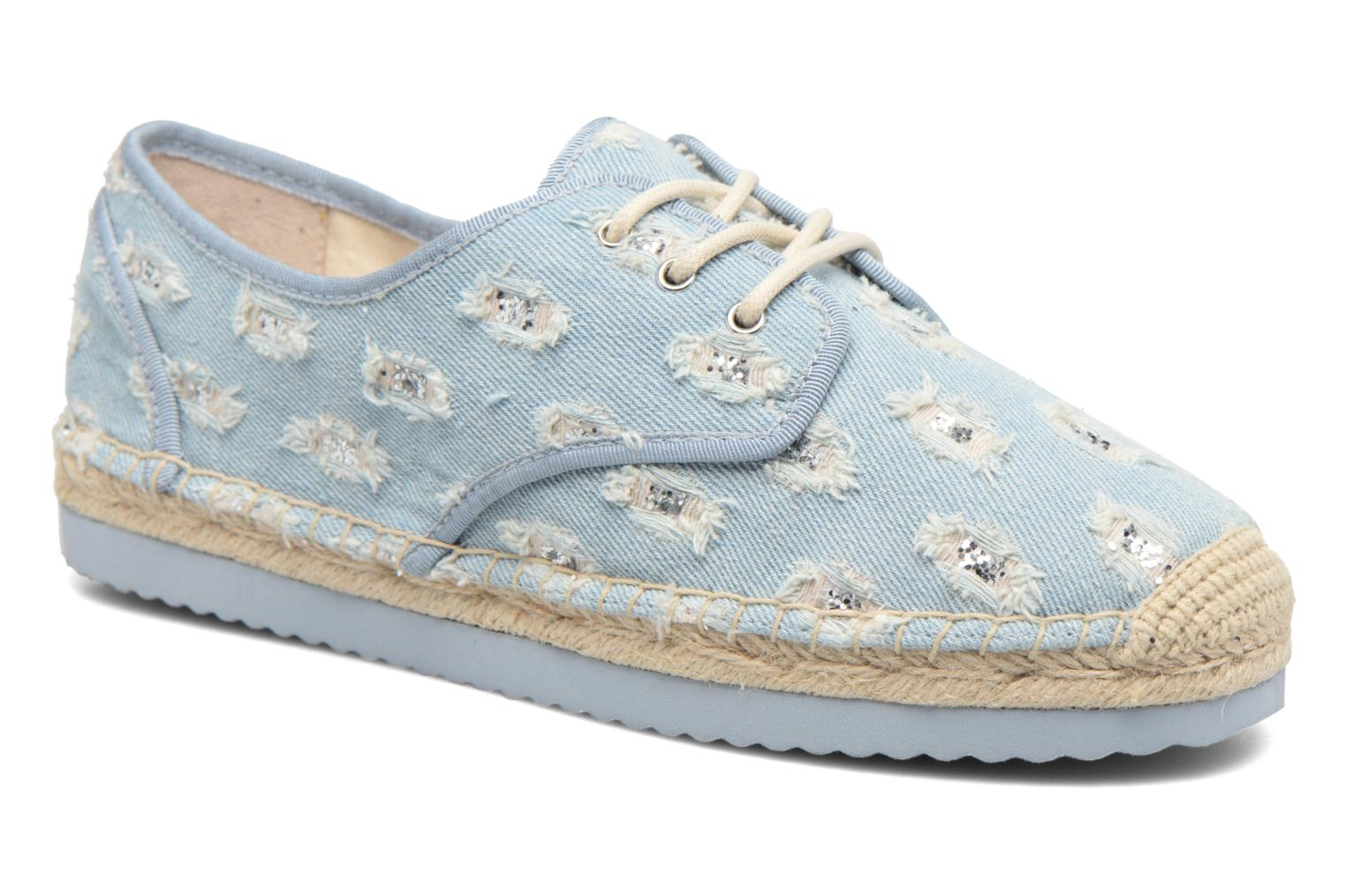 Espadrilles Michael Michael Kors Hastings Lace Up Blauw detail