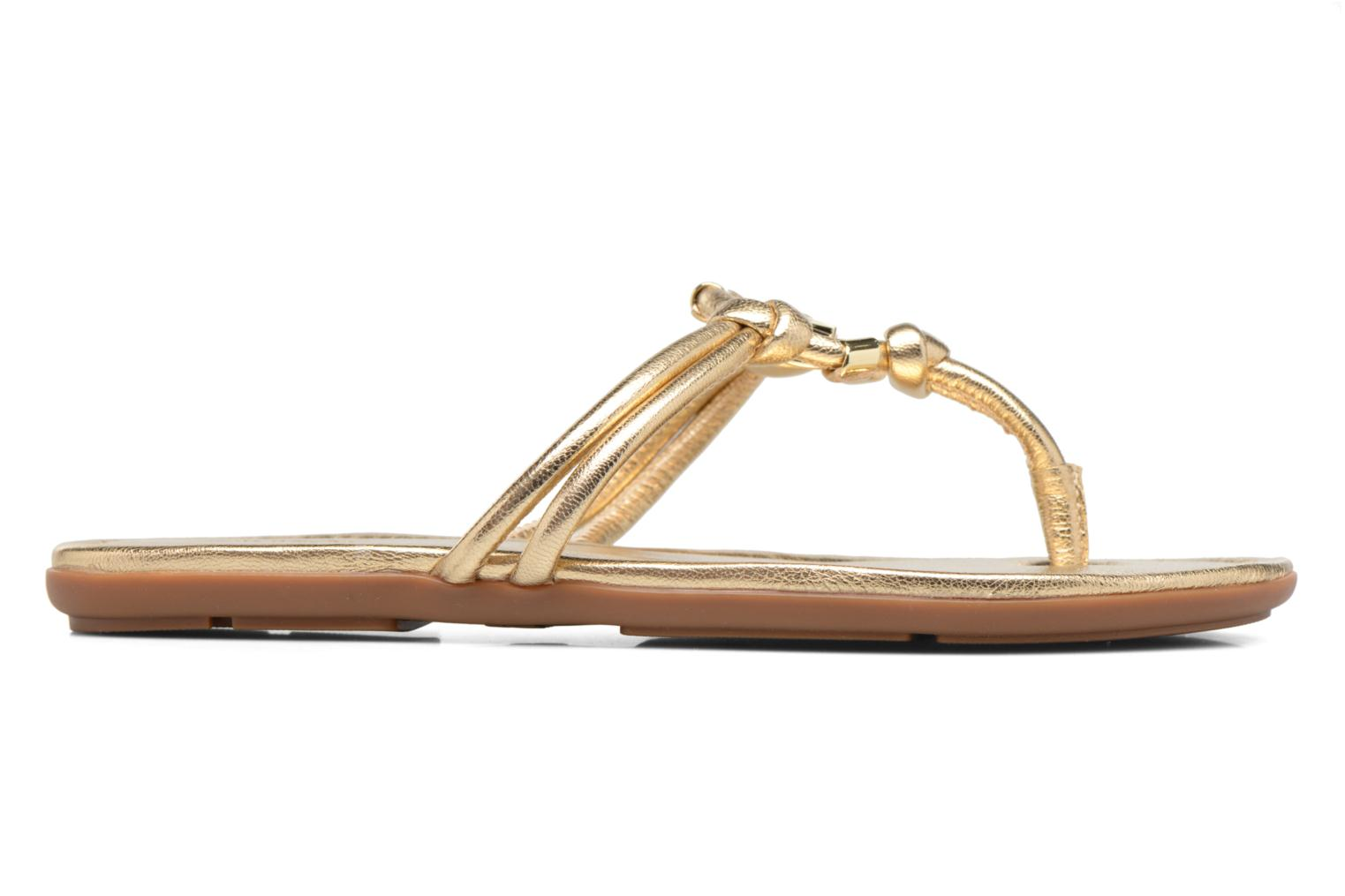 Flip flops Michael Michael Kors Kinley Thong Bronze and Gold back view
