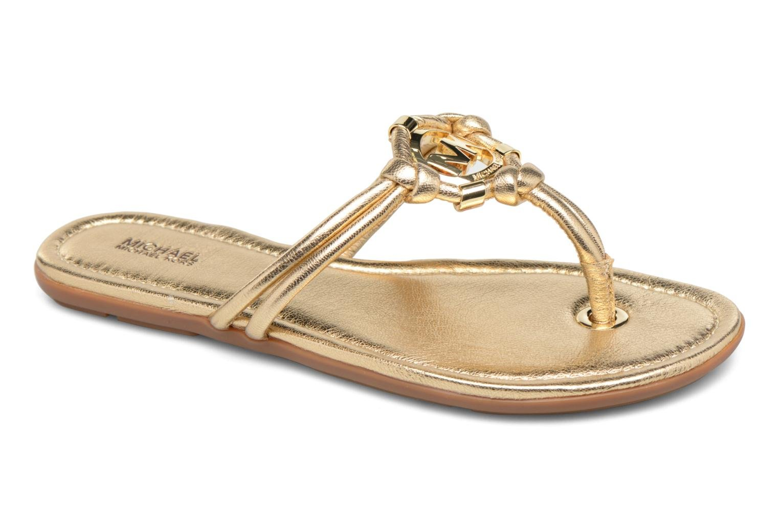 Flip flops Michael Michael Kors Kinley Thong Bronze and Gold detailed view/ Pair view
