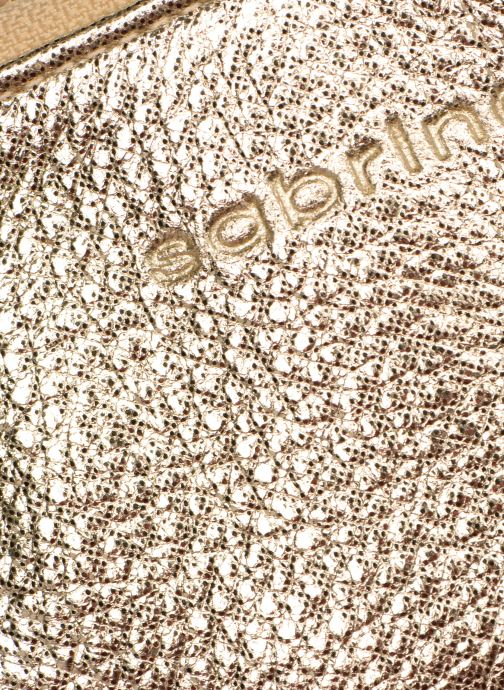 Petite Maroquinerie Sabrina Ninon Or et bronze vue gauche