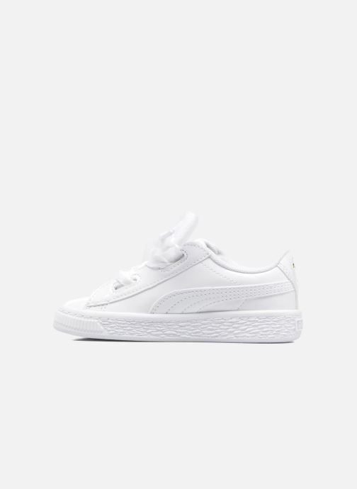 Baskets Puma Basket Heart Patent PS Blanc vue face