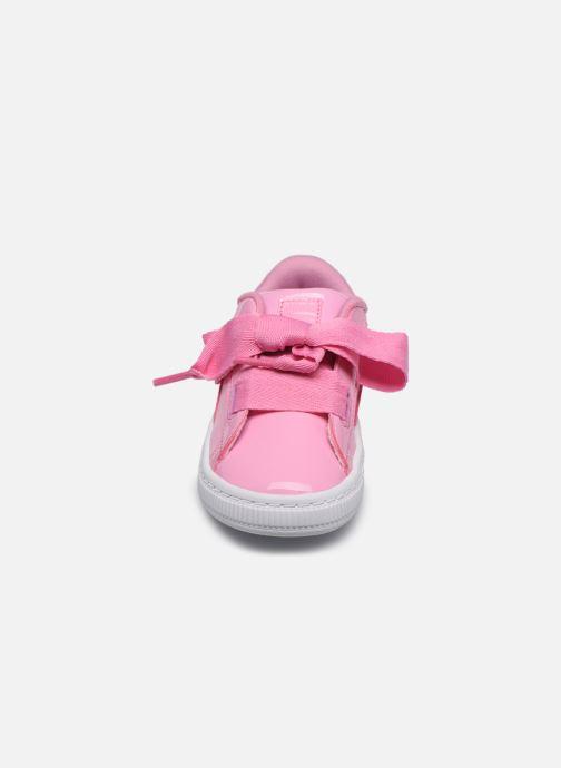 Baskets Puma Basket Heart Patent PS Rose vue portées chaussures
