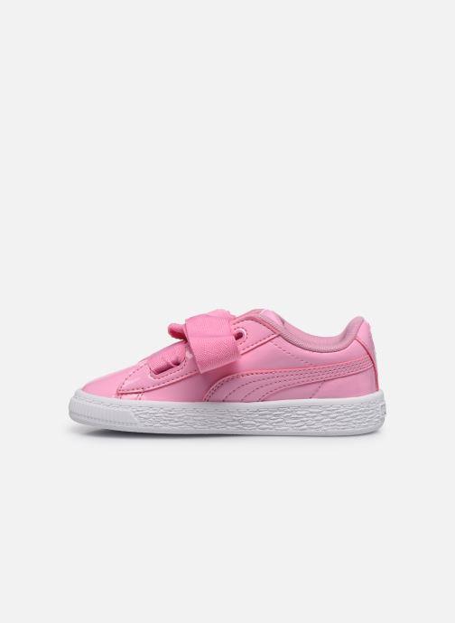 Sneaker Puma Basket Heart Patent PS rosa ansicht von vorne