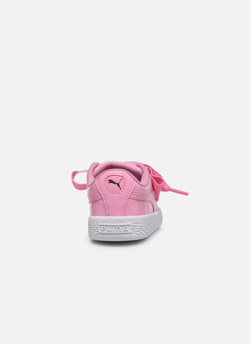 Sneaker Puma Basket Heart Patent PS rosa ansicht von rechts