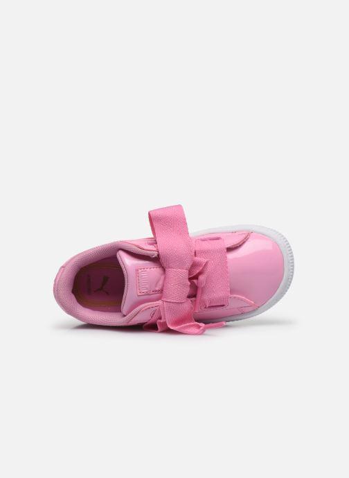 Sneaker Puma Basket Heart Patent PS rosa ansicht von links