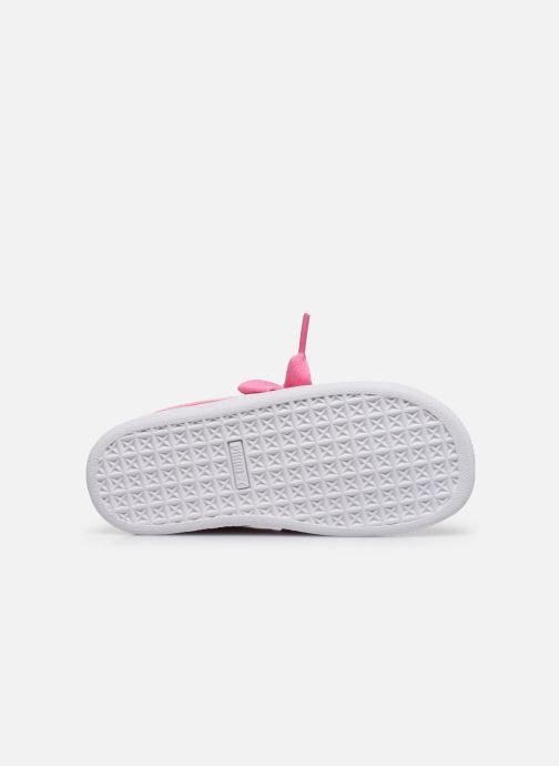Sneaker Puma Basket Heart Patent PS rosa ansicht von oben