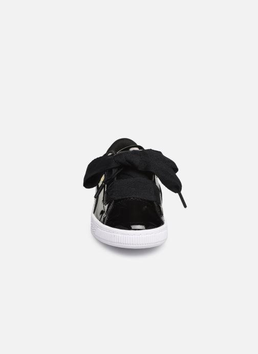 Baskets Puma Basket Heart Patent PS Noir vue portées chaussures