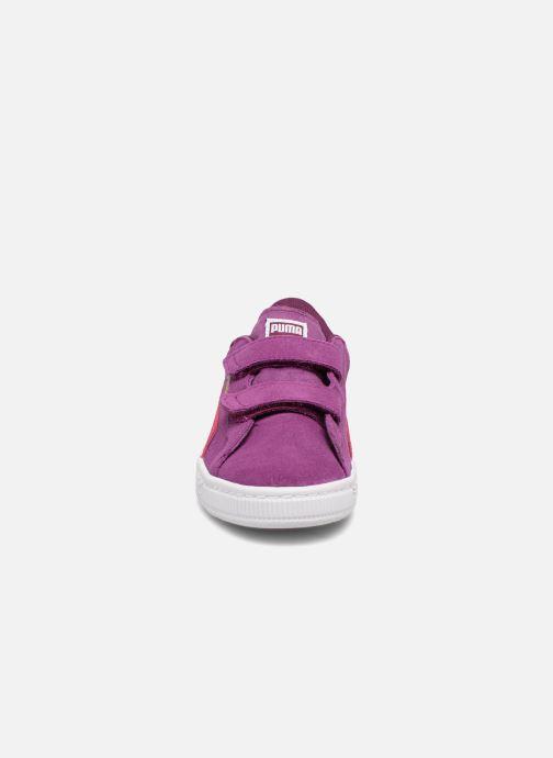 Baskets Puma Ps Suede 2 Straps Violet vue portées chaussures