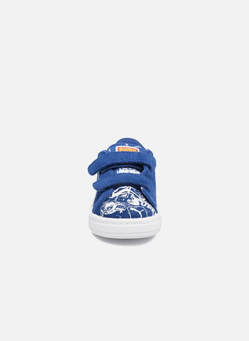 Baskets Puma Suede Superman Street V Inf Bleu vue portées chaussures