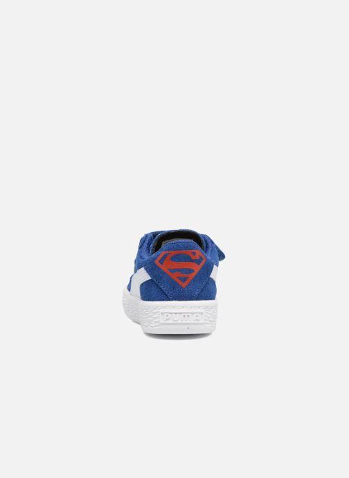 Baskets Puma Suede Superman Street V Inf Bleu vue droite