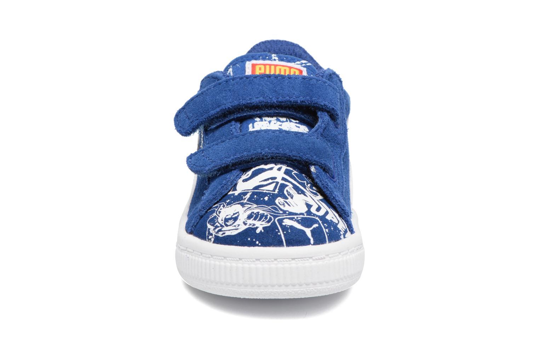 Sneakers Puma Suede Superman Street V Inf Blå se skoene på