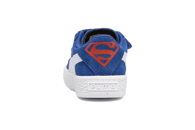 Sneakers Puma Suede Superman Street V Inf Blå Se fra højre