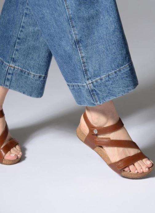 Sandalen Josef Seibel Tonga 25 braun ansicht von unten / tasche getragen