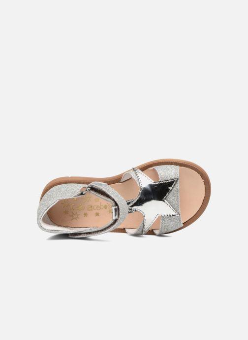 Sandales et nu-pieds Acebo's Sofia Argent vue gauche