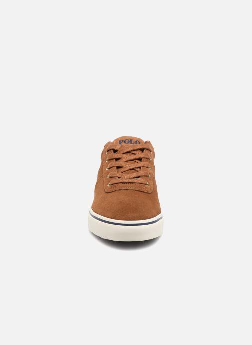 Baskets Polo Ralph Lauren Hanford-Sneakers-Vulc Marron vue portées chaussures