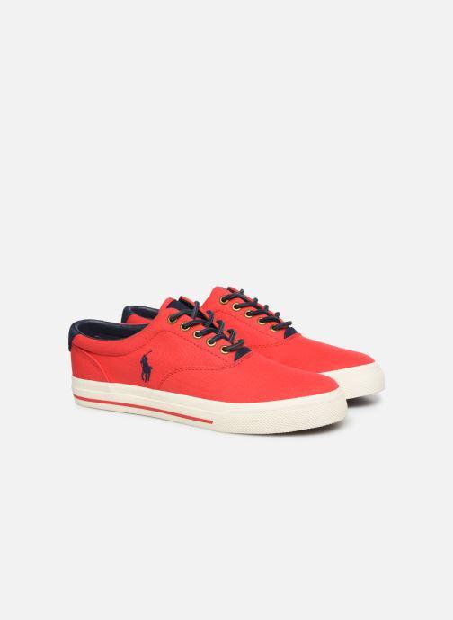 Baskets Polo Ralph Lauren Vaughn-Ne-Sneakers-Vulc Rouge vue 3/4