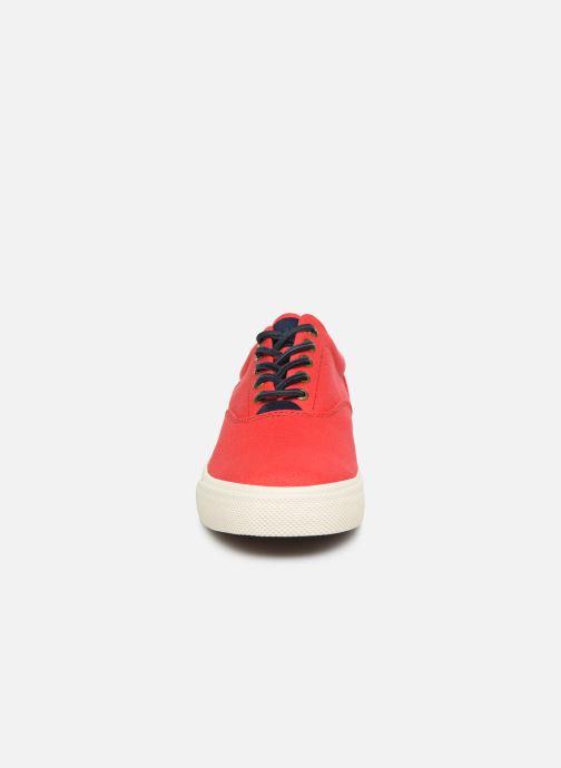 Baskets Polo Ralph Lauren Vaughn-Ne-Sneakers-Vulc Rouge vue portées chaussures