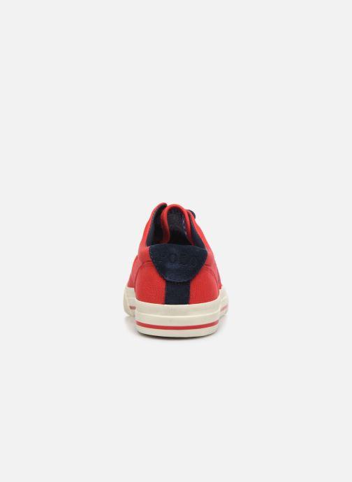 Sneaker Polo Ralph Lauren Vaughn-Ne-Sneakers-Vulc rot ansicht von rechts
