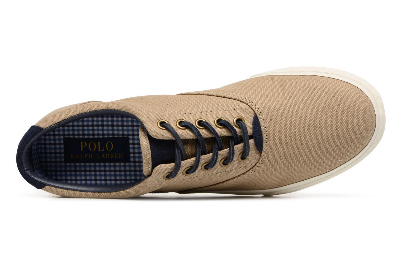 Baskets Polo Ralph Lauren Vaughn-Ne-Sneakers-Vulc Beige vue gauche