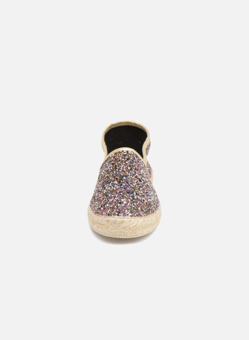 Espadrilles La maison de l'espadrille Sabline Glitter E Argent vue portées chaussures