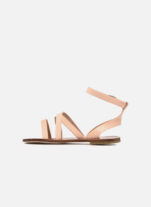 Sandales et nu-pieds PèPè Alma Beige vue face