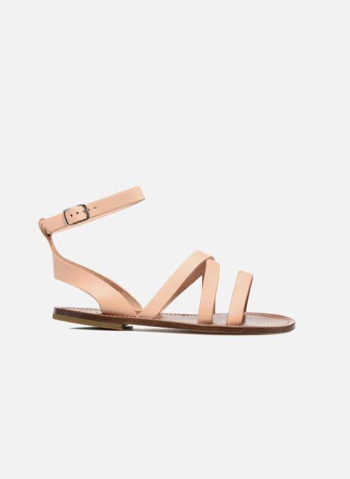 Sandales et nu-pieds PèPè Alma Beige vue derrière