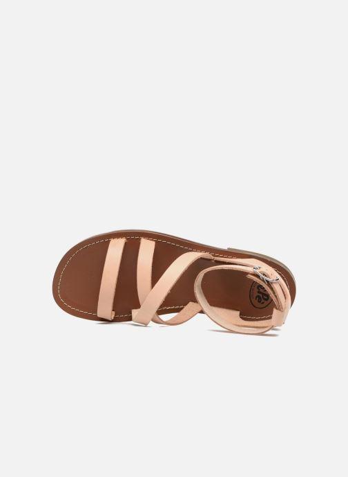 Sandales et nu-pieds PèPè Alma Beige vue gauche