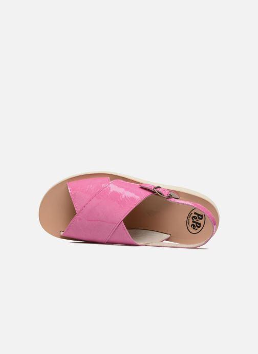 Sandales et nu-pieds PèPè Claudia Rose vue gauche