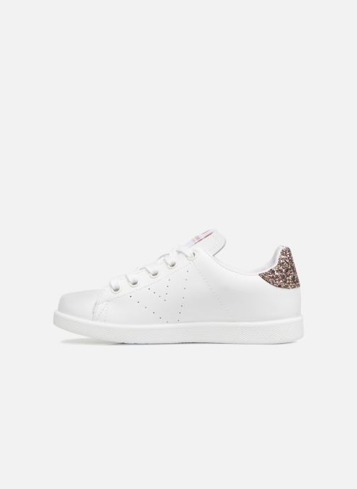 Sneakers Victoria Deportivo Basket Piel Glitter Wit voorkant
