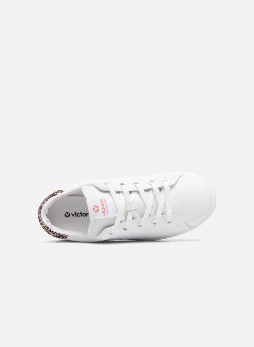 Sneakers Victoria Deportivo Basket Piel Glitter Bianco immagine sinistra